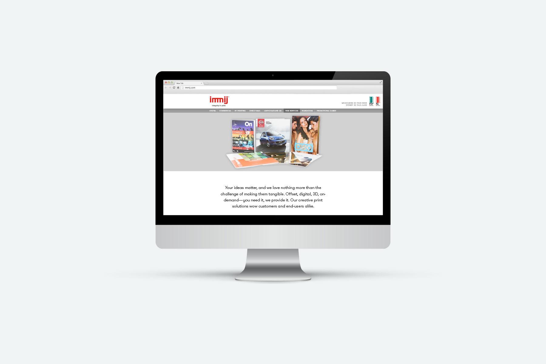 Immij website